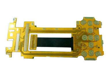 Double Sided Board FPC Yellow Solder Mask dengan Ketebalan Papan 0,5mm