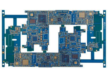 Papan PCB HDI Multilayer, Papan Sirkuit Cetak Emas FR4 Flex Ukuran 610X915 mm