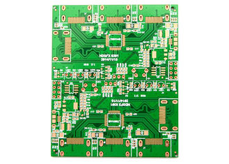 Fr4 Basis 2 Sisi Papan PCB Kontrol Ketat OEM 1.0mm 1.6mm Tebal