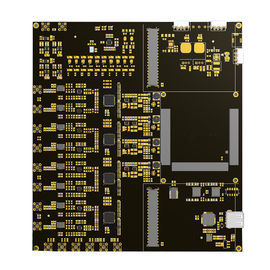Hitam 94v0 FR4 Multilayer PCB 4 Layer / 6 Lapisan Papan Sirkuit Elektronik